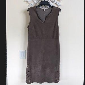 Chelsea & Violet faux suede Side Cutout dress NWT